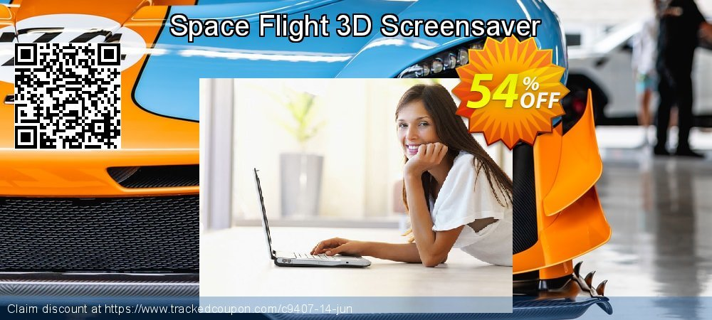 Get 50% OFF Space Flight 3D Screensaver offering sales