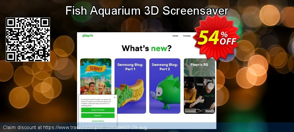 Get 50% OFF Fish Aquarium 3D Screensaver offering deals