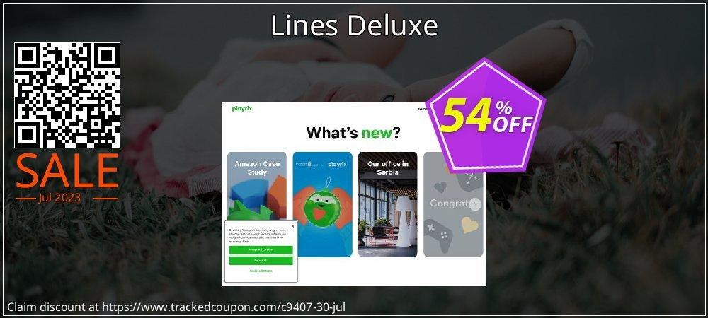 Get 50% OFF Lines Deluxe promo sales
