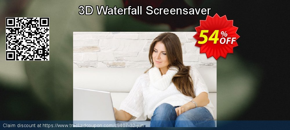 Get 50% OFF 3D Waterfall Screensaver promo
