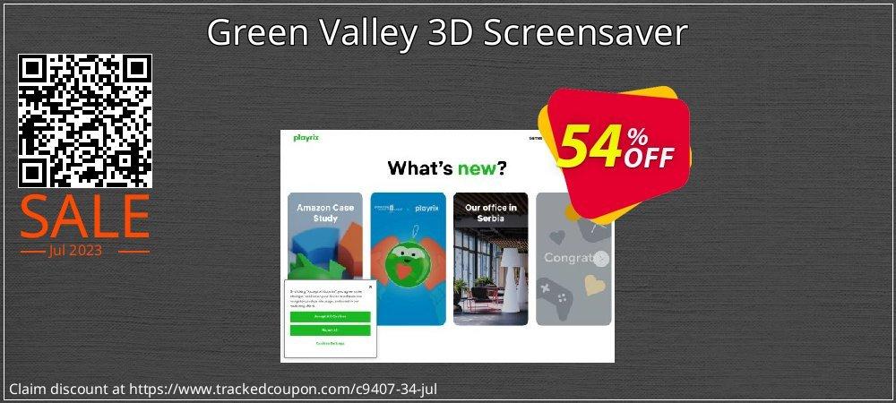 Get 50% OFF Green Valley 3D Screensaver promo