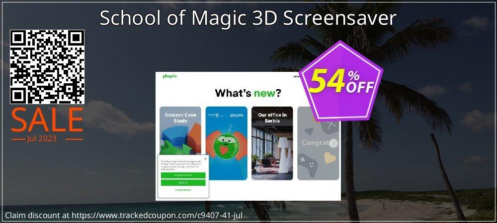 Get 50% OFF School of Magic 3D Screensaver discounts