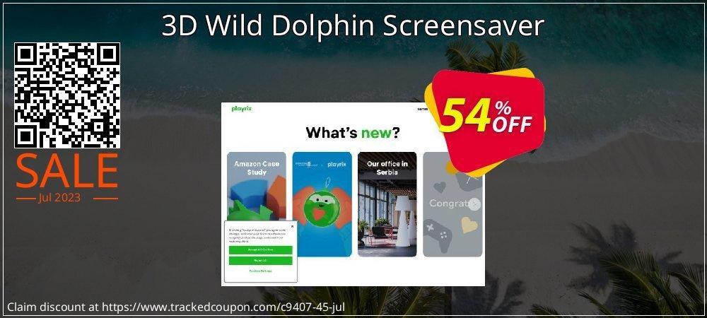 Get 50% OFF 3D Wild Dolphin Screensaver discount