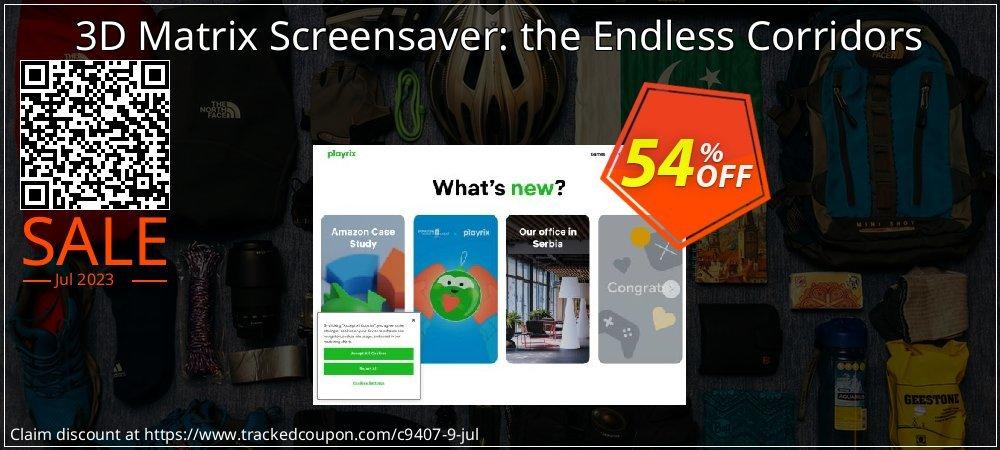 Get 50% OFF 3D Matrix Screensaver: the Endless Corridors promotions
