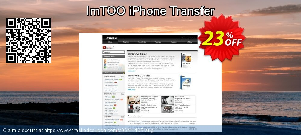 ImTOO iPhone Transfer coupon on Hug Holiday discount