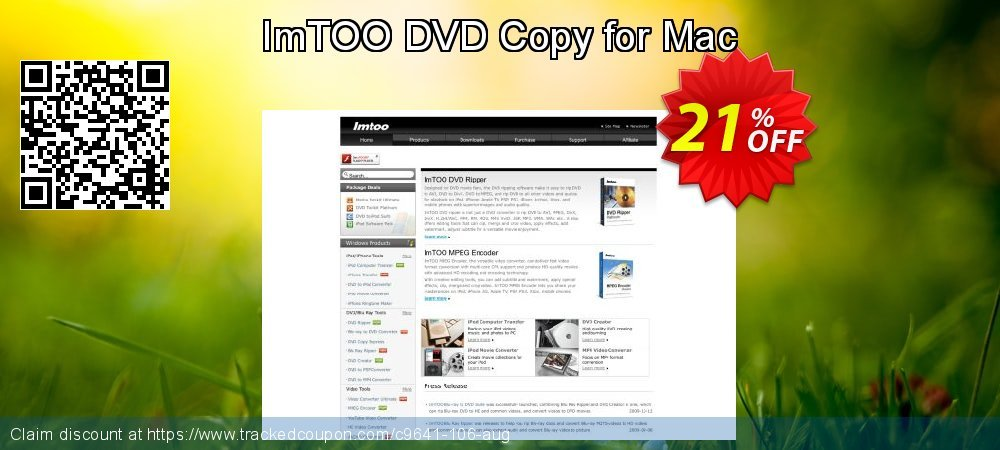 Get 20% OFF ImTOO DVD Copy for Mac discounts