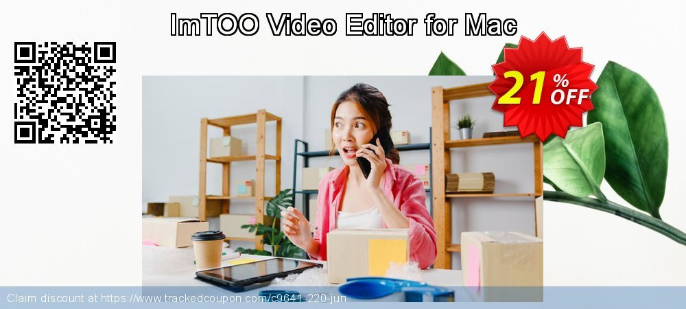 ImTOO Video Editor for Mac coupon on Back-to-School event offering discount