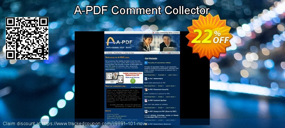 A-PDF Comment Collector coupon on College Student deals promotions