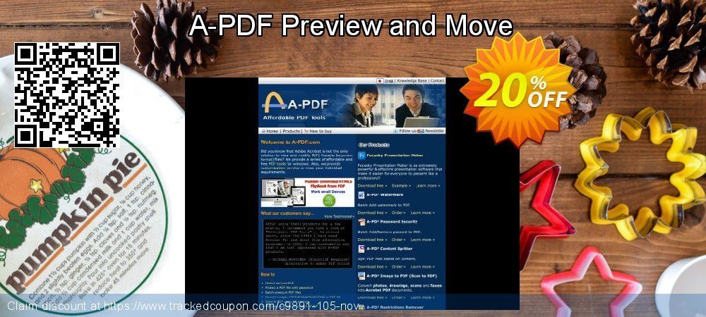Get 20% OFF A-PDF Preview and Move offering sales