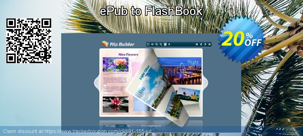 Get 20% OFF ePub to FlashBook promo sales