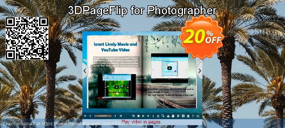3DPageFlip for Photographer coupon on May Day offering sales