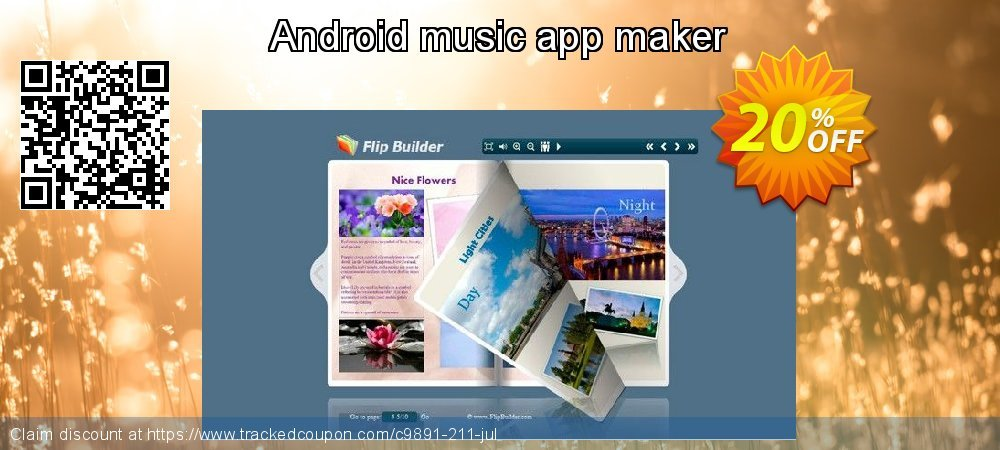 Get 20% OFF Android music app maker promo sales