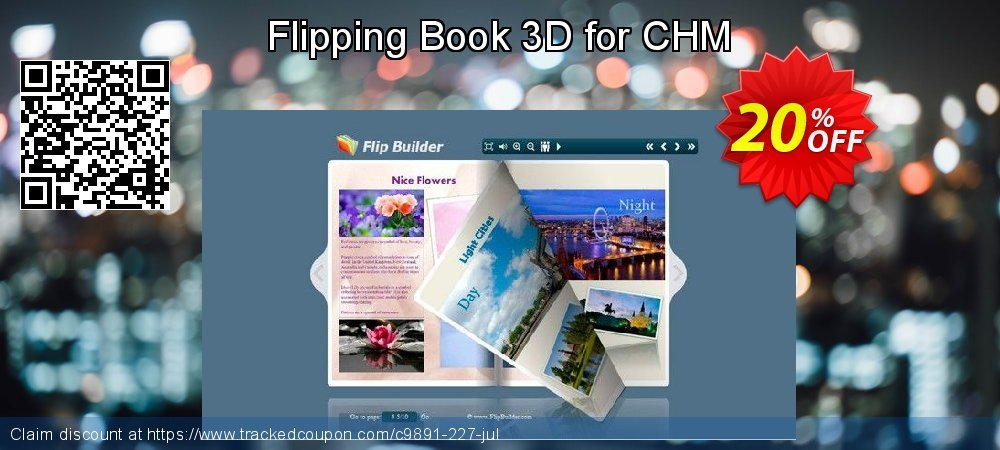Get 20% OFF Flipping Book 3D for CHM discount