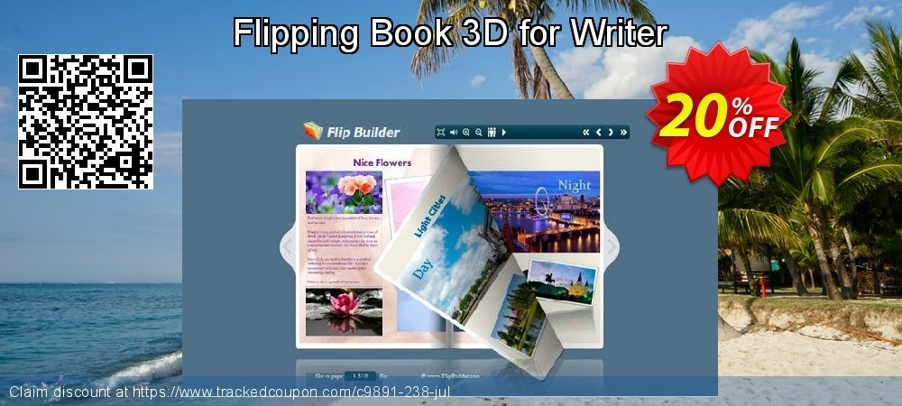 Get 20% OFF Flipping Book 3D for Writer offering sales