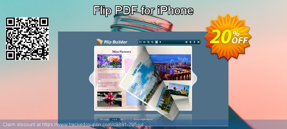 Flip PDF for iPhone coupon on Back to School offer offering discount