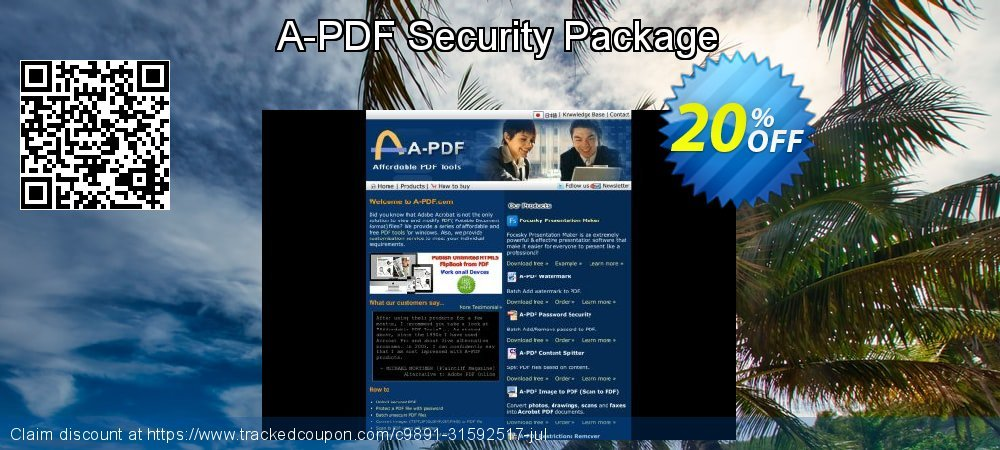 Get 20% OFF A-PDF Security Package offering deals
