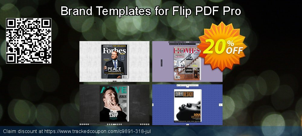 Get 20% OFF Brand Templates for Flip PDF Pro offering sales