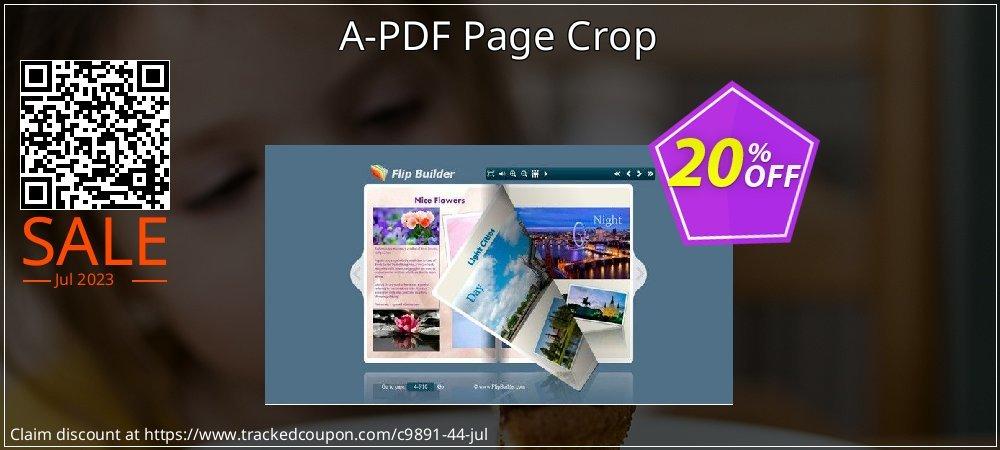 Get 20% OFF A-PDF Page Crop offering deals