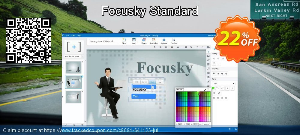 Focusky Standard coupon on Valentine's Day offering sales