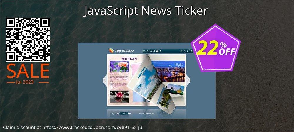 Get 20% OFF JavaScript News Ticker offering sales