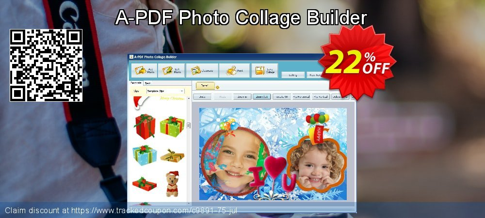 A-PDF Photo Collage Builder coupon on Valentine Week super sale