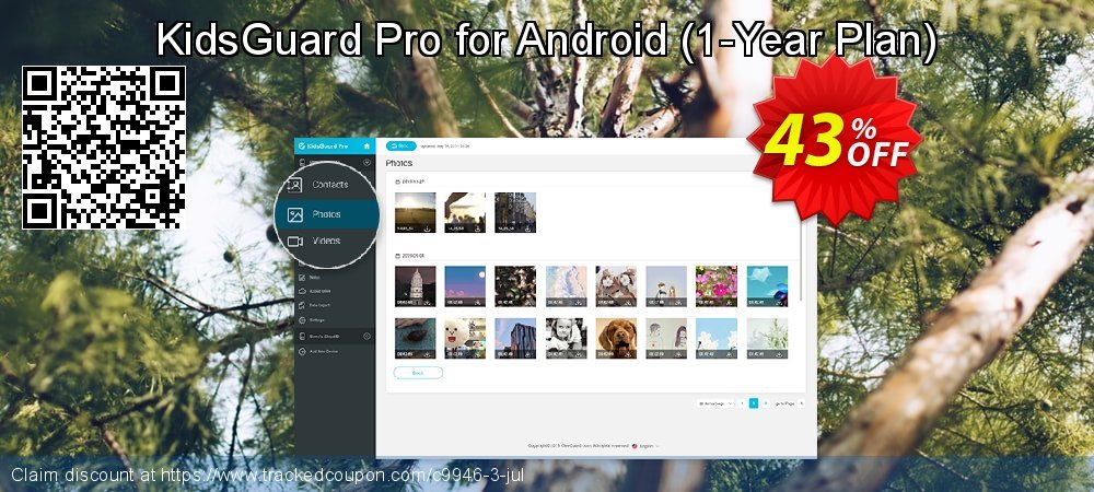 KidsGuard Pro for Android - 1-Year Plan  coupon on Back to School shopping offer