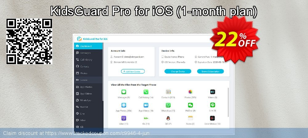 KidsGuard Pro for iOS - 1-month plan  coupon on Thanksgiving offering sales