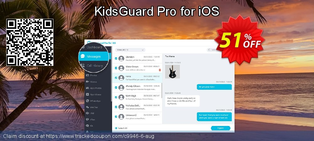 KidsGuard Pro for iOS coupon on Happy New Year super sale
