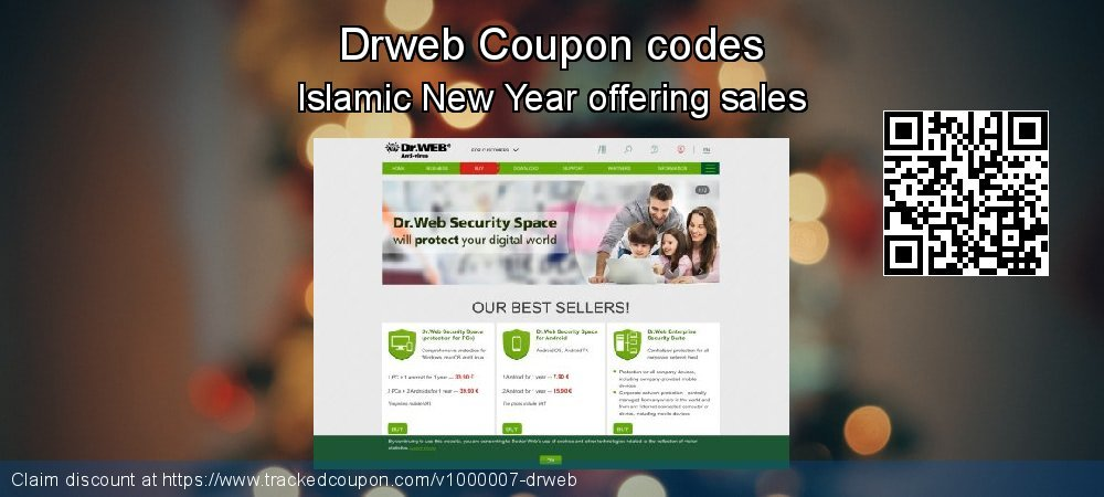 Drweb Coupon discount, offer to 2020 New Year's Day