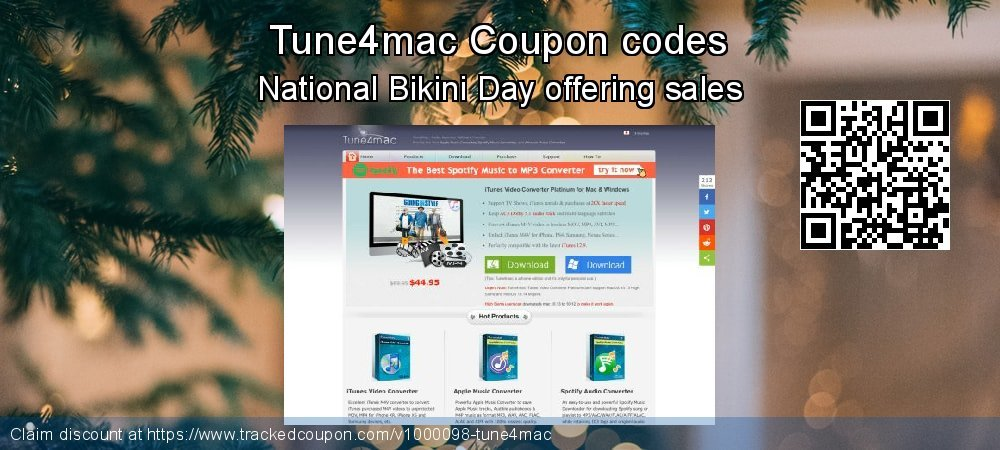 Tune4mac Coupon discount, offer to 2020 Valentine's Day