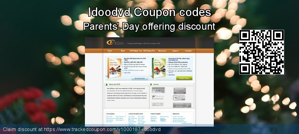 Idoodvd Coupon discount, offer to 2020 New Year