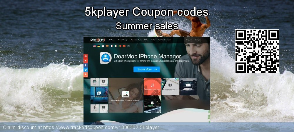 5kplayer Coupon discount, offer to 2019 Back to School shopping