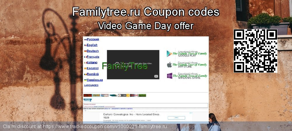 Familytree.ru Coupon discount, offer to 2019 Xmas Day