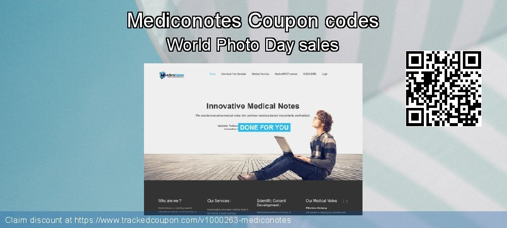 Mediconotes Coupon discount, offer to 2020