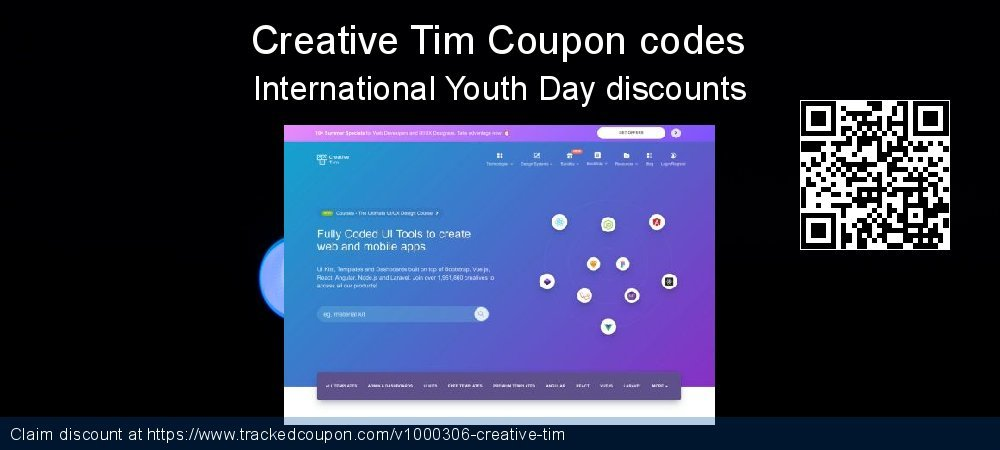 Creative Tim Coupon discount, offer to 2020