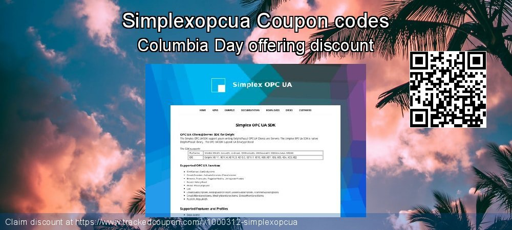 Simplexopcua Coupon discount, offer to 2019 4th of July