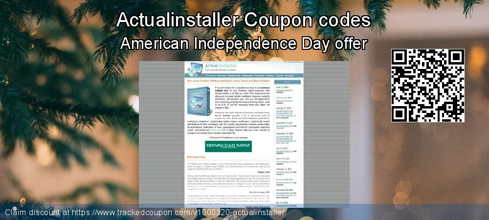 Actualinstaller Coupon discount, offer to 2019 July 4th