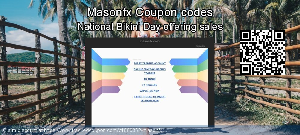 Masonfx Coupon discount, offer to 2021