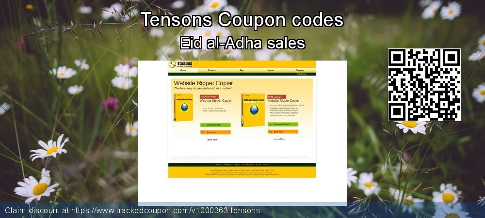 Tensons Coupon discount, offer to 2020