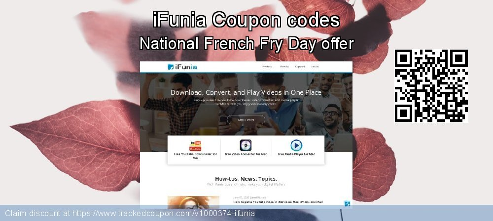 iFunia Coupon discount, offer to 2019 Halloween