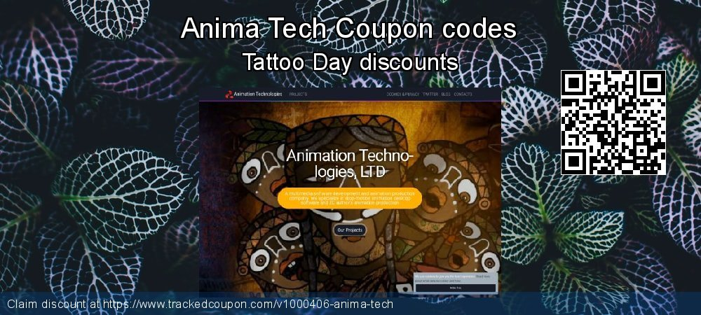 Anima Tech Coupon discount, offer to 2019 Back to School season