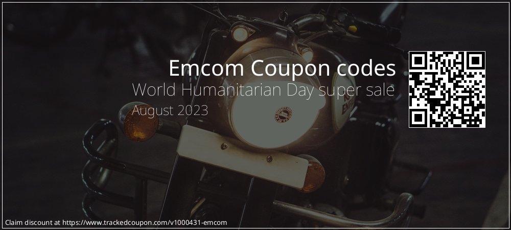 Emcom Coupon discount, offer to 2020