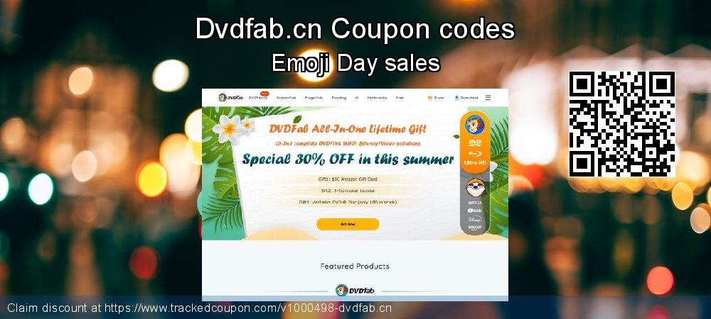 Dvdfab.cn Coupon discount, offer to 2021