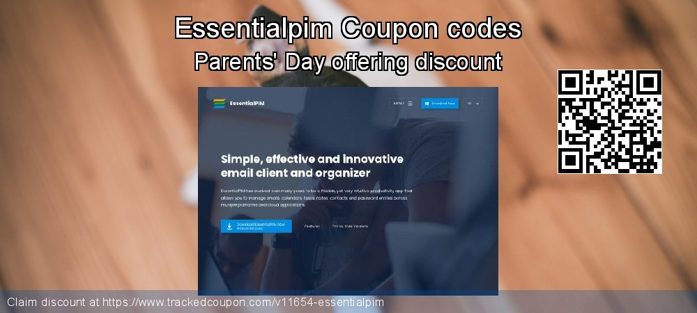 Essentialpim Coupon discount, offer to 2020