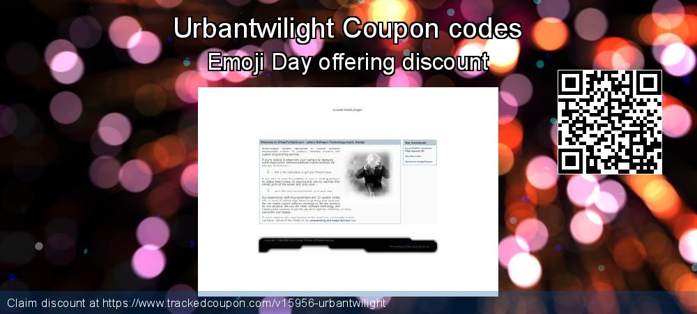 Urbantwilight Coupon discount, offer to 2018 Xmas Day