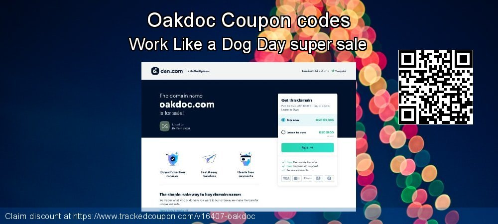 Oakdoc Coupon discount, offer to 2020 Spring