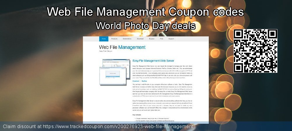Web File Management Coupon discount, offer to 2020 Easter Sunday
