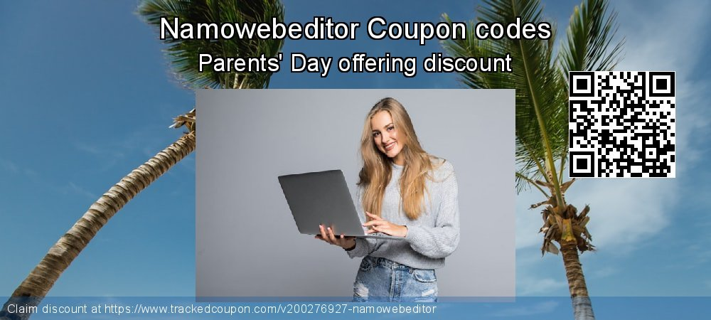 Namowebeditor Coupon discount, offer to 2021