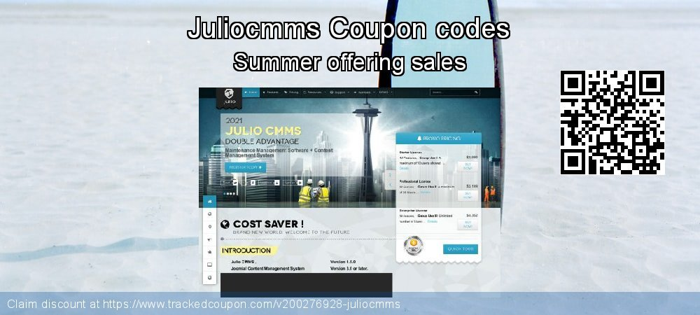 Juliocmms Coupon discount, offer to 2021