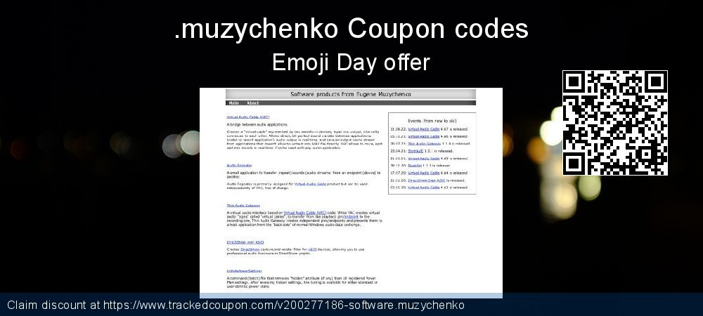 Software.muzychenko Coupon discount, offer to 2021